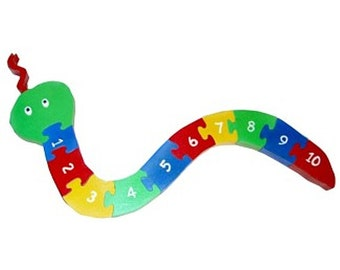 Counting Numbers Snake - Children's Wooden 3D Puzzle