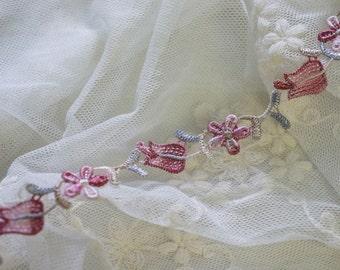 """5/8"""" beautiful flower venise lace trim - 3yd"""