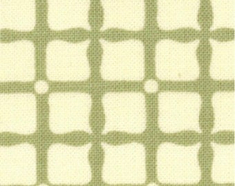 Checked Fabric - Green - Circa 1934 Fabric Hayworth Check Sage by Cosmo Cricket for Moda Fabrics 37006 12 Light Green - 1/2 yard