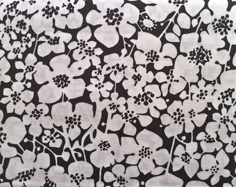 Black and White Floral Fabric - 13 Going 30 by Maywood Studio MAS8043 J - 1/2 yard