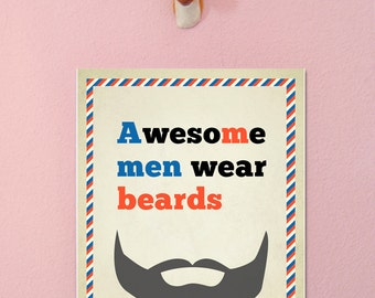 Awesome men print