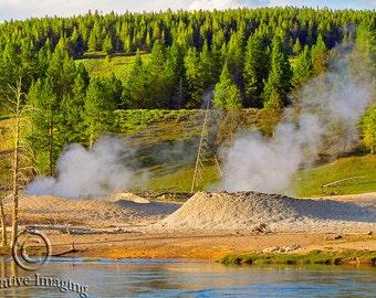Yellowstone National Park, Nature Photography, Mud Pots, Landscape Photography,  Wyoming, US National Park, Fumarolus Yellowstone