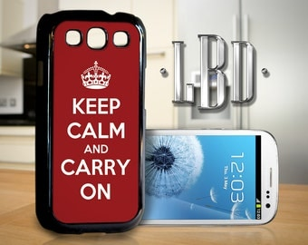 Galaxy S3 Case - Keep Calm and Carry On Cover GS3
