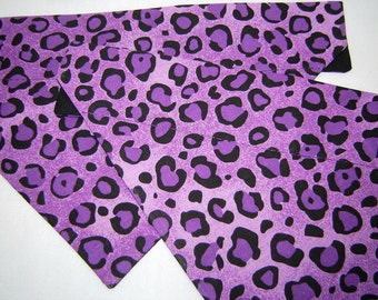 Purple Cheetah Animal Spots Leopard Jungle Dog Scarf Over the Collar Dog Bandana
