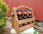 Wooden Beer Tote, Handmade Beer Tote, Wood Beer Tote, Handcrafted Beer Tote, Wooden Beer Caddy, Father's Day, Beer Tote - RusticCreekWoodProd