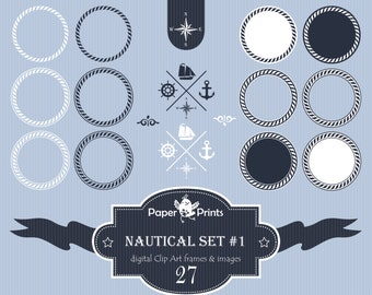 27 png nautical frames nautical nautical clipart nautical clip art nautical clipart frames nautical frames frames clipart set digital - Nautical Frames
