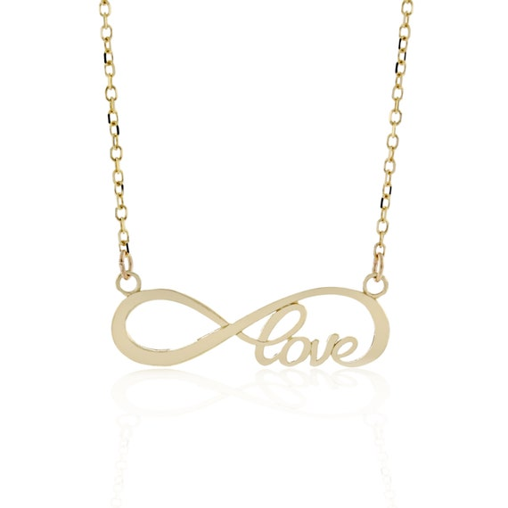 Infinite love necklace 10kt gold simple minimalism like this item aloadofball Image collections