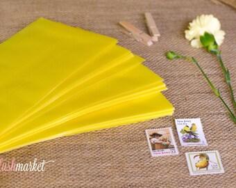 Summer Yellow Translucent Vellum No. 10 Envelopes (Set of 25)