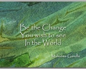 GRADUATION CARD - Inspirational Quote by Mahatma Gandhi - Also available as a ready-to-frame Print - Great Gift Idea (CGRAD2013027)