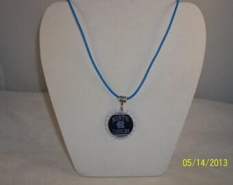 UNC Tarheels Bottle Cap Necklace