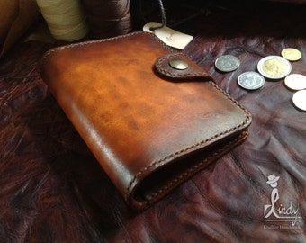 D Indy Passport Leather case (Vintage Brown)