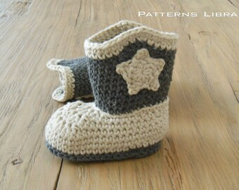 Cowboy Boots Pattern Crochet Cowboy Boots baby Cowboy Boots