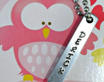Solid Four Sided Stainless Steel Bar Necklace