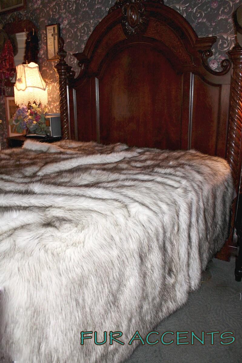 Plush Faux Fur Bedspread Comforter Throw Blanket Exotic