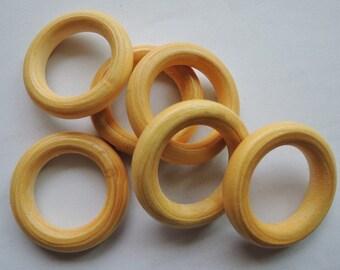12 Pcs  33mm Wood Ring   W034