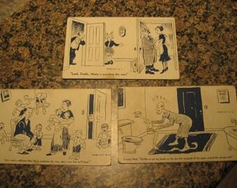 3 Vintage Funny Postcards
