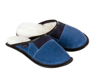 "Sheepskin Slippers, ""2-Color All-Purpose Mules -Limoges"""