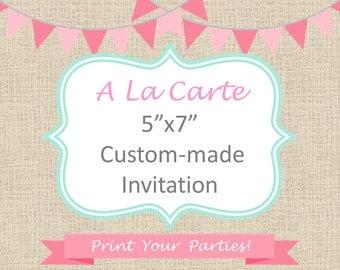 """A LA CARTE - 5""""x7"""" Invitation"""