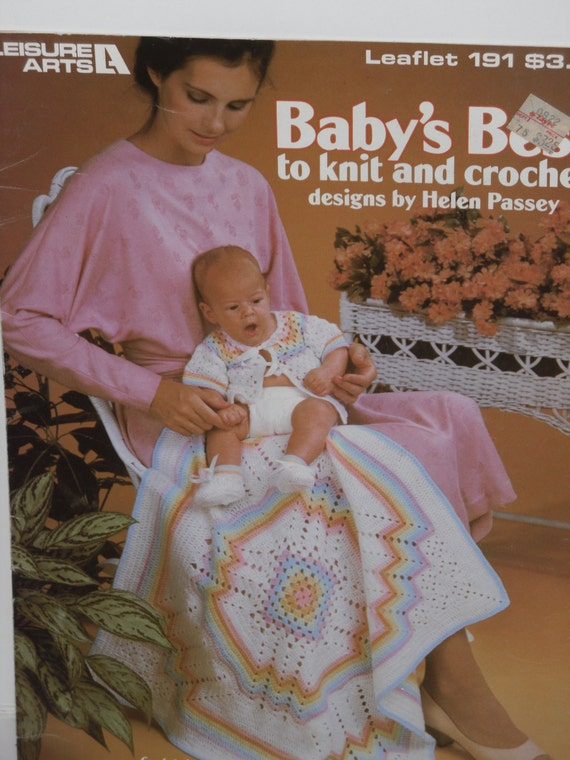 Baby Best To Knit Amp Crochet Leisure Arts Leaflet No 191