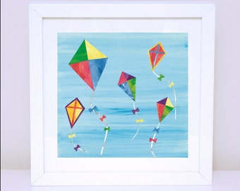 Art Print for Kids, Girls wall art, Nursery wall art, Bedroom Decor: Go Fly a Kite