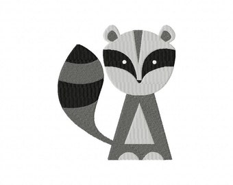 INSTANT DOWNLOAD Raccoon Machine Embroidery Design
