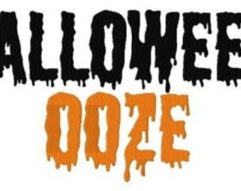 INSTANT DOWNLOAD Halloween Ooze Dripping Scary Script Machine Embroidery Font Set Includes 3 Sizes