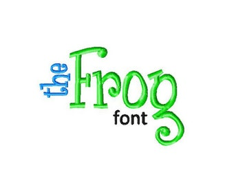 INSTANT DOWNLOAD The Frog Font Machine Embroidery Font Set Includes 4 Sizes