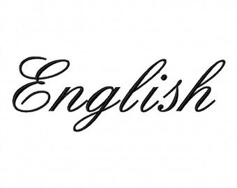 INSTANT DOWNLOAD English Script Font Machine Embroidery Font Set Includes 3 Sizes