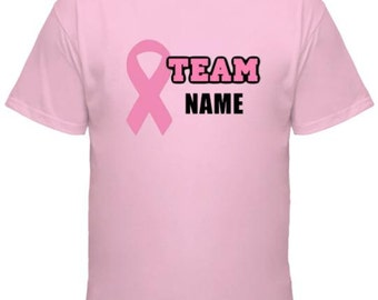 Team (NAME) Personalized Breast Cancer t-shirt