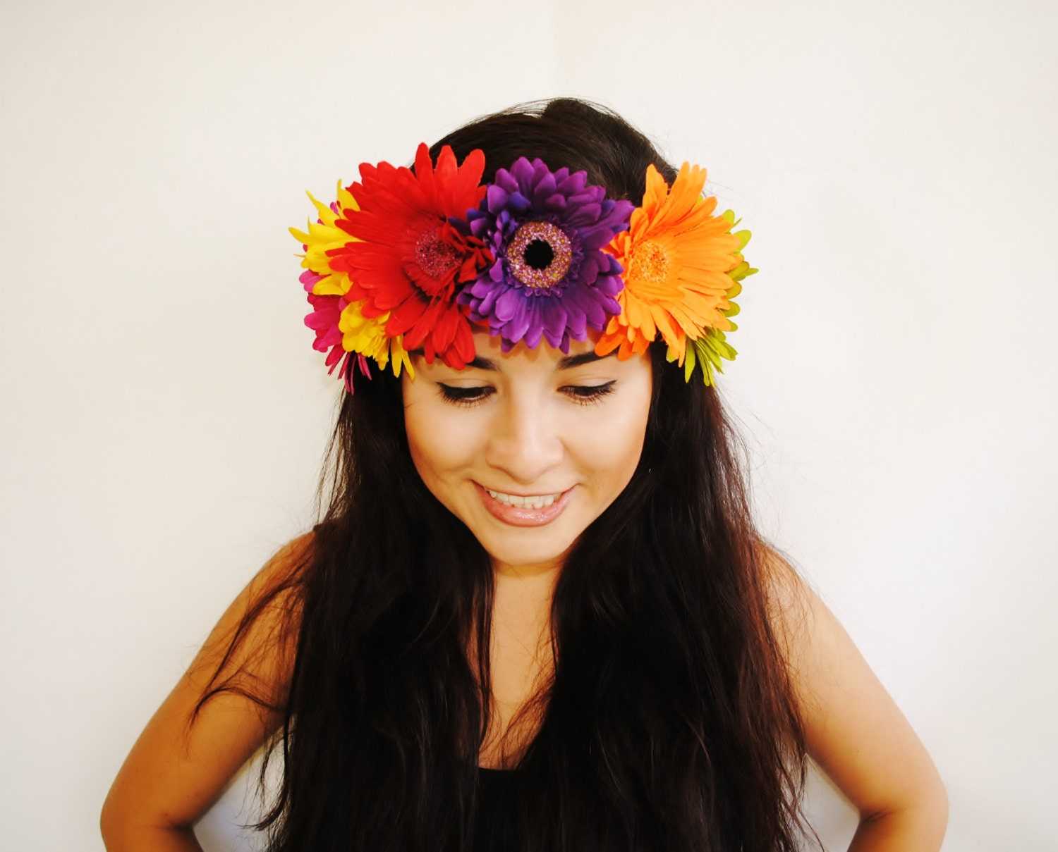 Colorful Daisy Flower Crown Floral Headband