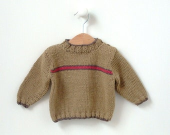 BOYS KNITTING PATTERN newborn to 3 yrs - boys sweater Flash Stripe