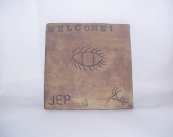 Ceramic Welcome Tile