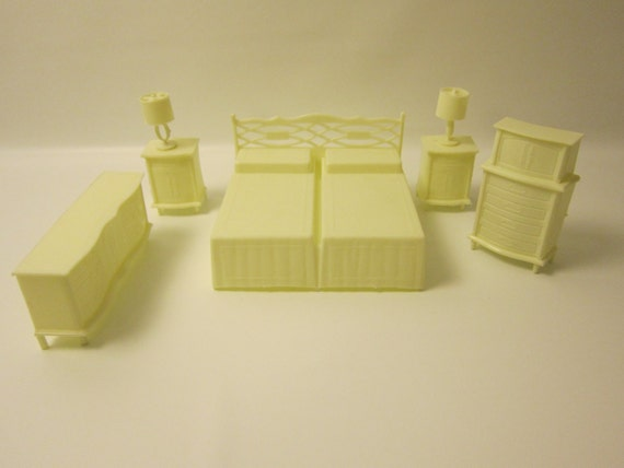 Vintage Plastic Mpc Dollhouse Furniture 7 By Foxlaneminiatures