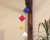 Spiral Geometric Mobile -- primary color set