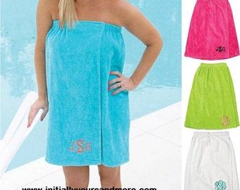 Monogram Spa Towel Wrap