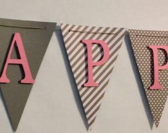 Happy Birthday Banner, 1st Birthday, Party Decorations, Birthday Party
