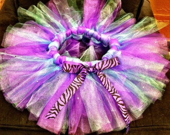 Cotton Candy Baby/toddler tutu with genuine Swarovski crystals