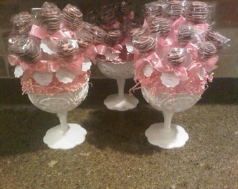 Bouquet of Cake Pops --12 Brownie or Cake Pops in a Vase