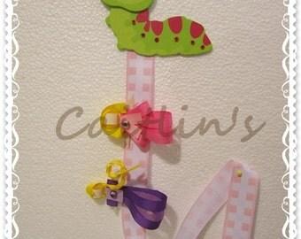 Hairclips Holder - Caterpillar (Children/ Girls/ Handmade Accessories)