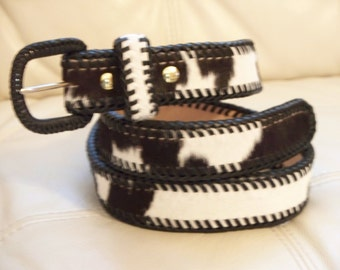 black&white cowhide belt.