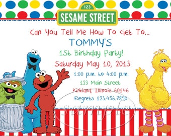 Sesame Street Birthday Invitation for amazing invitation design