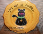 You are My Sunshine Cat Plate