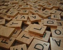 Individual Scrabble Tiles Pick Your Own Wedding Favor- .20 - .30 cents - Scrabble Tiles Wooden Set