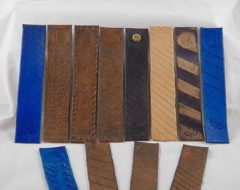 Custom made Leather Bookmarks