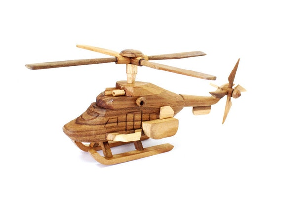 Wooden Toy Helicopter 02 in Handmade