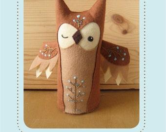 Olaf Owl plush PDF sewing pattern felt animal patterns ornaments
