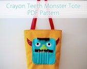 The Original Crayon Teeth Monster Tote PDF Pattern
