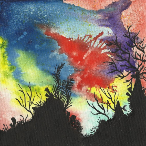 Items similar to Coral Reef I - 8 x 8 Original Watercolor ...