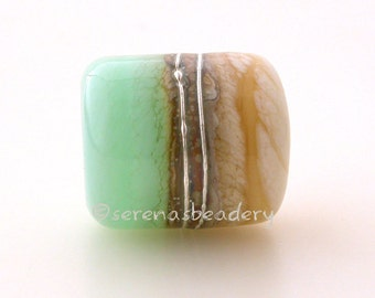 SEA Foam IVORY beach european charm Lampwork Glass Bead - TANERES