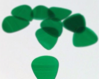 Guitar Pick in Green - Handmade From Recycled Vinyl Record - Gift for Musicians, Rockers, Vinyl Collectors